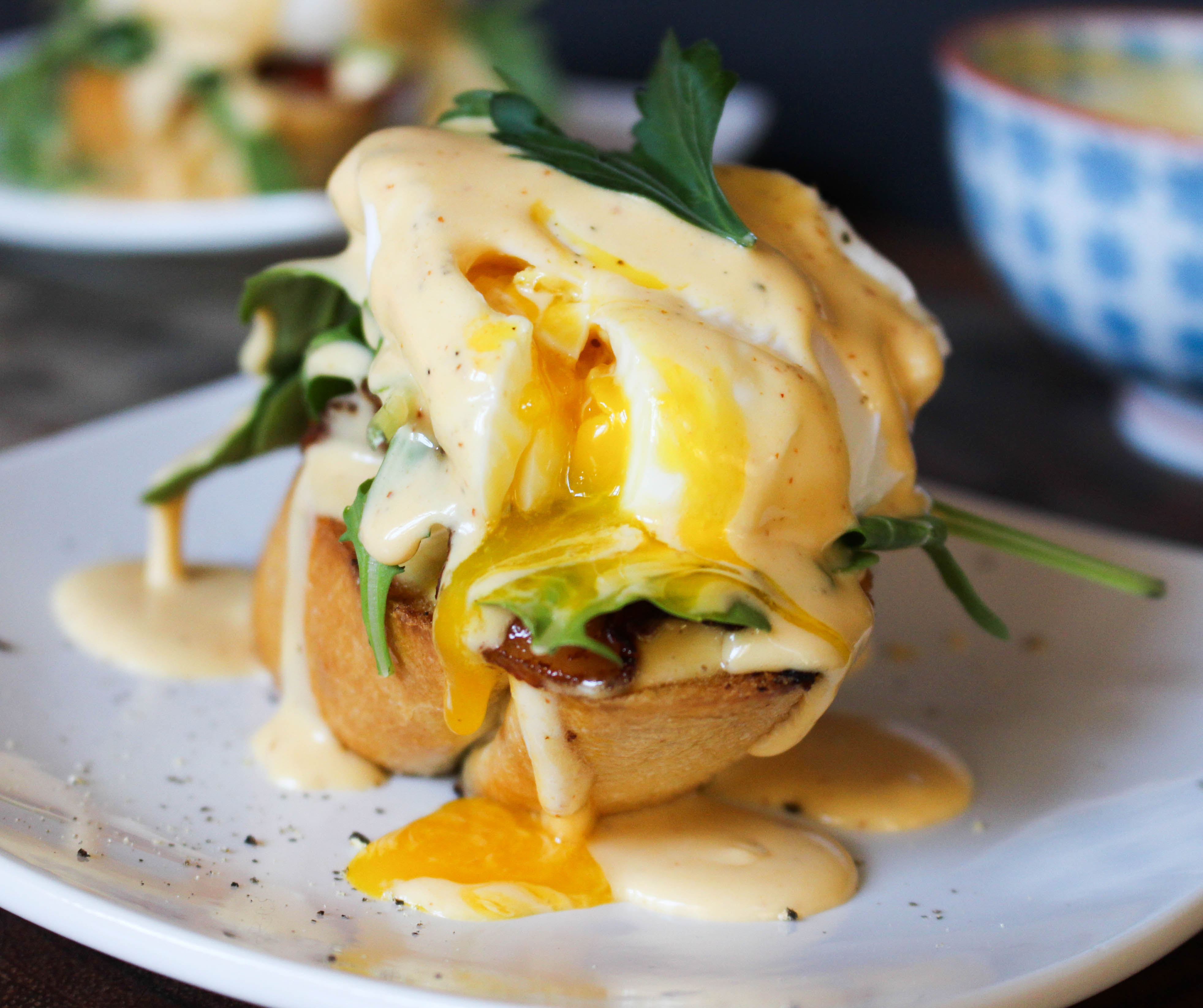 Eggs Benedict My Way With Sriracha Hollandaise