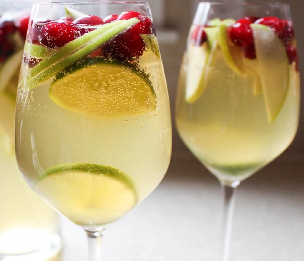 White Cranberry Holiday Sangria | Yes to Yolks
