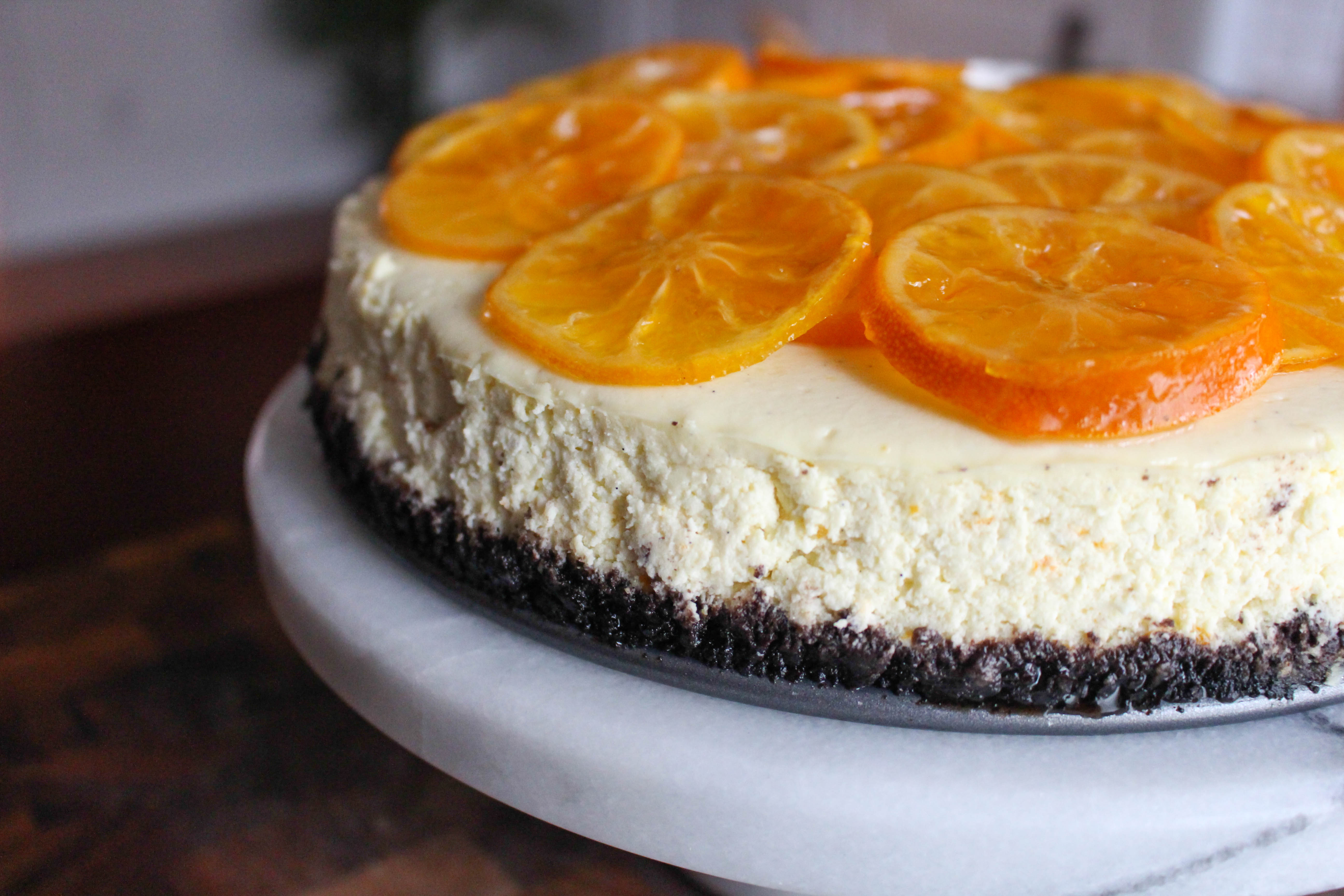 ... Bean Cheesecake with Chocolate Cookie Crust & Candied Clementines