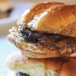 French Dip Sliders with Garlic Aioli & Au Jus