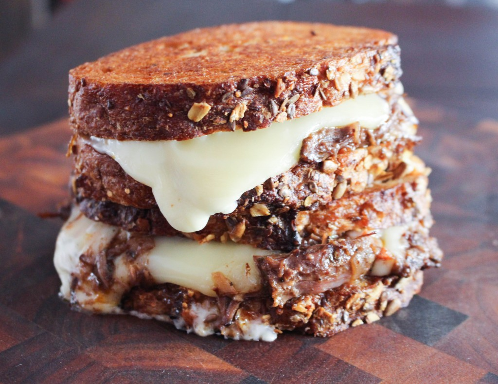 Fontina Grilled Cheese with Braised Short Rib & Brandied Fig Jam   Yes to Yolks