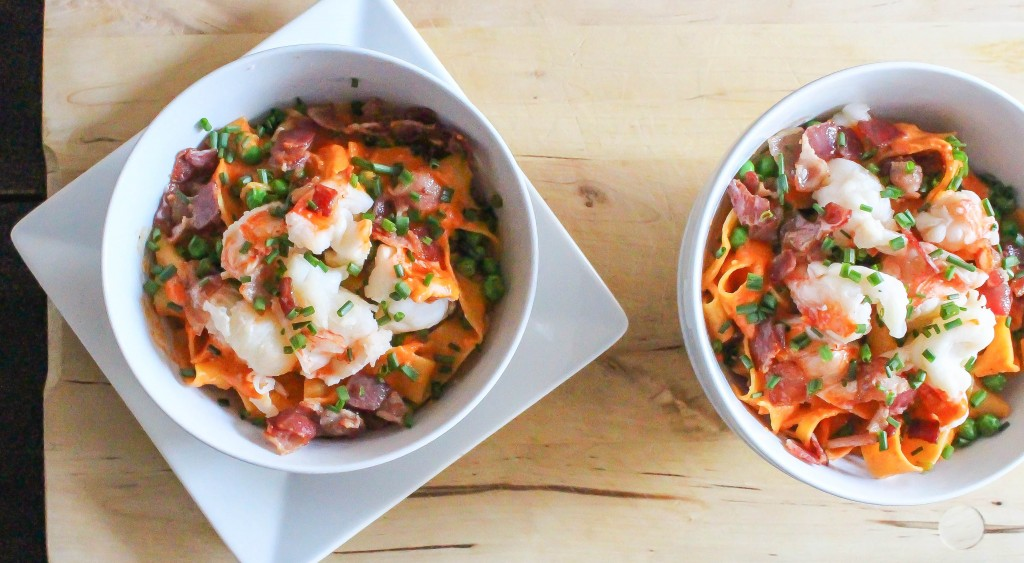 Spicy Lobster Noodle Bowls | Yes to Yolks