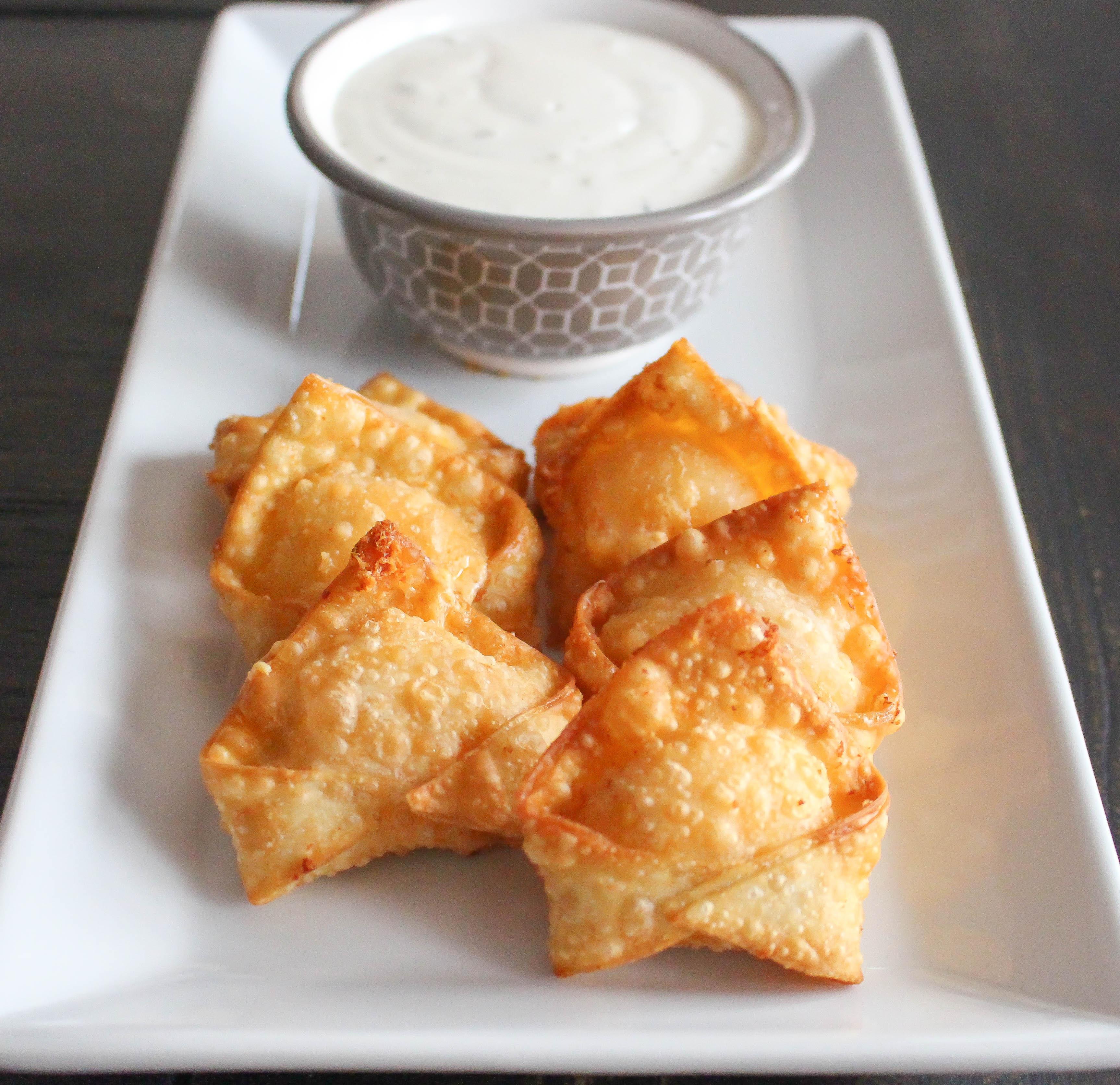 Buffalo Chicken Wontons  (Super Bowl Snack Series – Part 1)