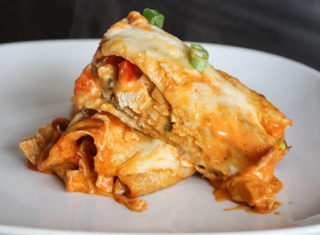 Buffalo Chicken Enchiladas | Yes to Yolks