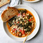 Kale Minestrone with Garlic Toast