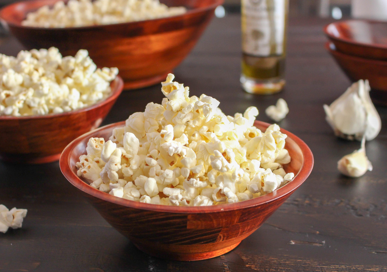 Garlic-Truffle Popcorn | Yes to Yolks