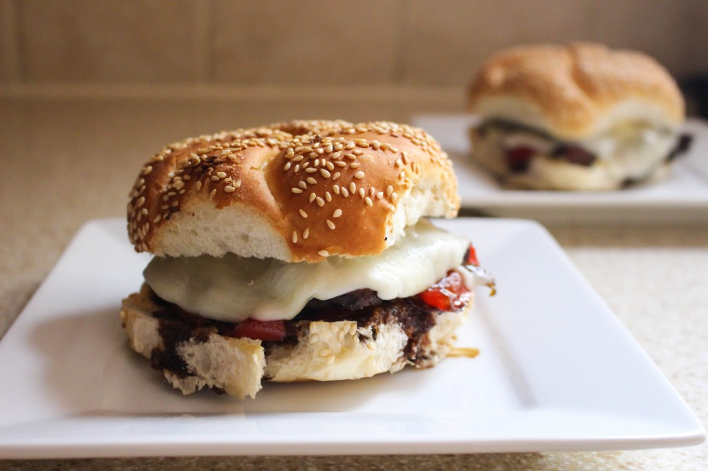 Guinness-Marinated Steak Sandwiches with Peppers, Onions, & Mustard Aioli | Yes to Yolks
