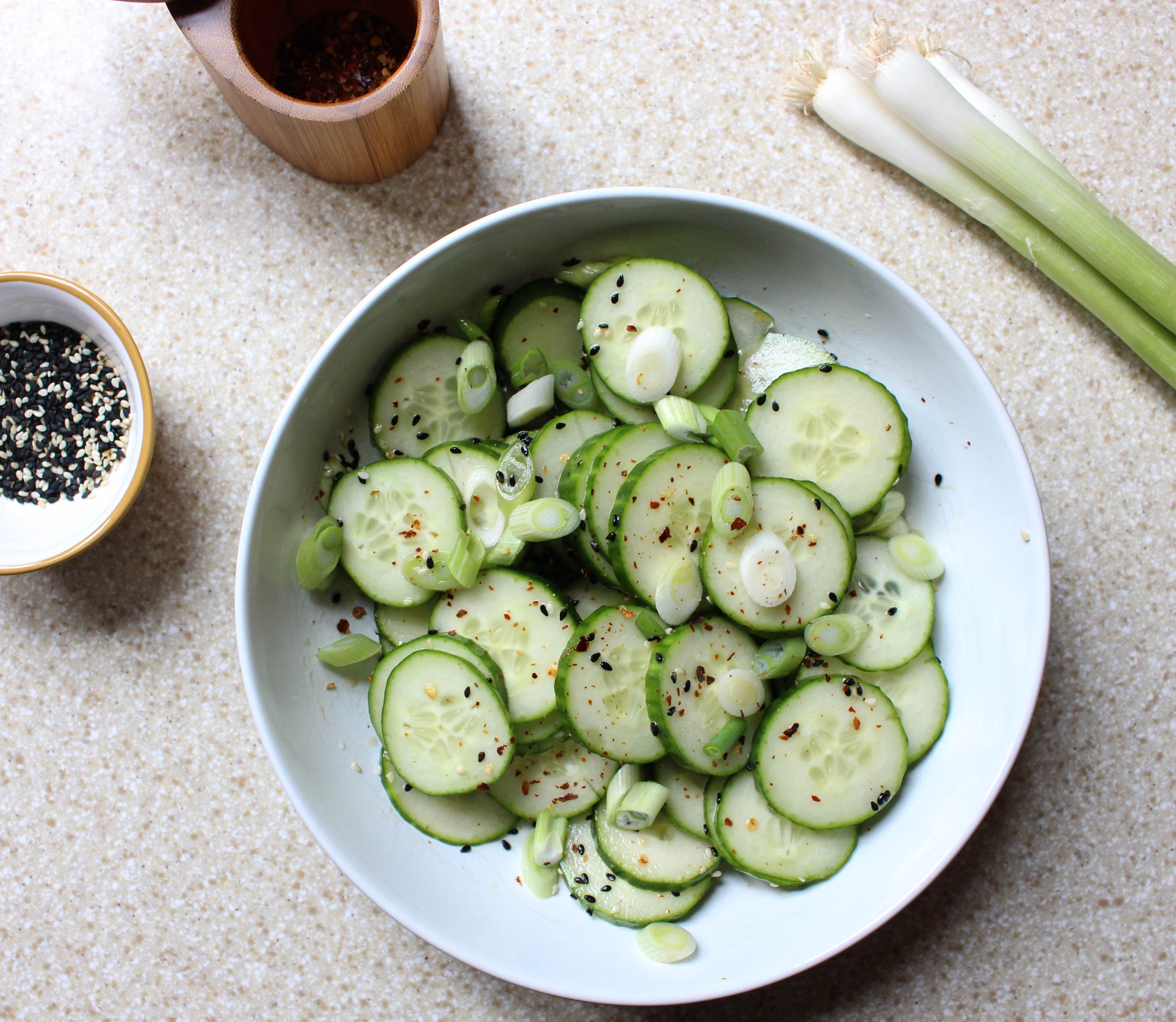 Sesame Cucumber Salad | Yes to Yolks