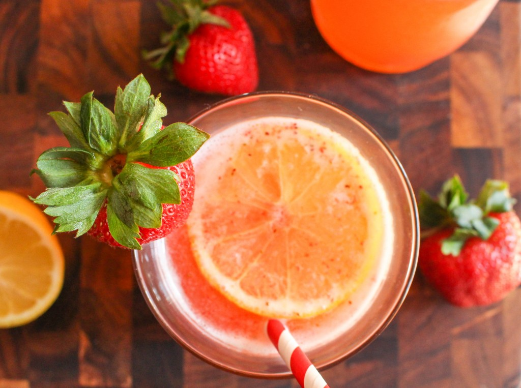 Sparkling Strawberry-Basil Lemonade | Yes to Yolks