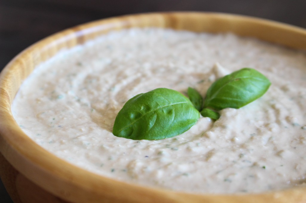 Garlicky White Bean & Basil Hummus   Yes to Yolks
