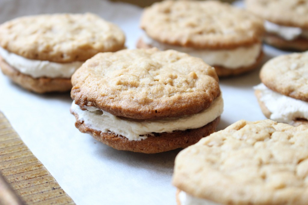 Chocolate-Dipped Peanut Butter Cookie Sandwiches with Salted Caramel Filling   Yes to Yolks