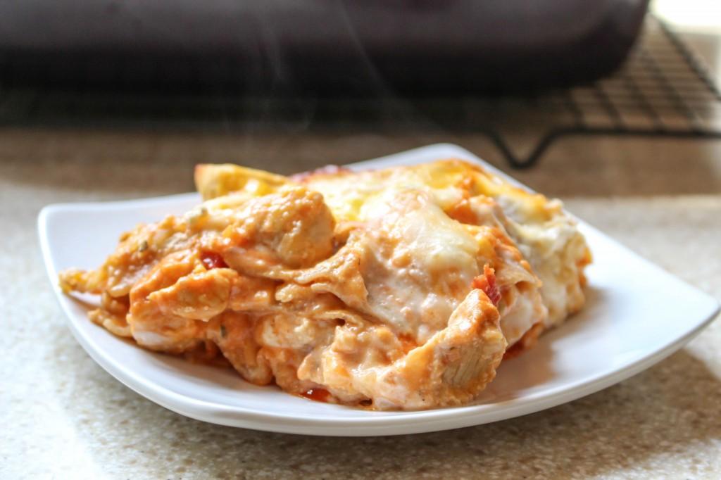 Buffalo Chicken Lasanga | Yes to Yolks