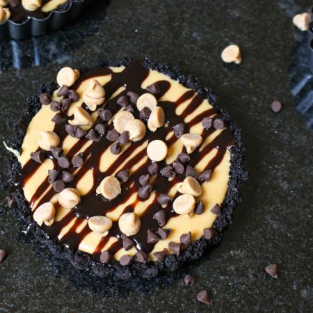 Mini (No-Bake) Chocolate Peanut Butter Tarts