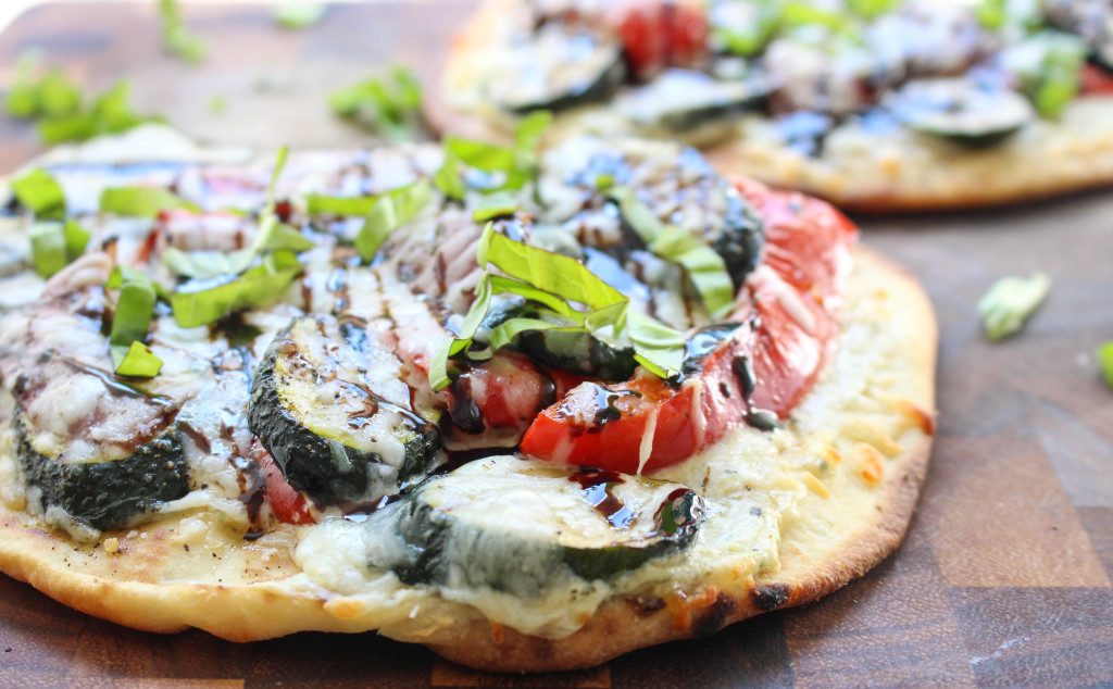 Grilled Veggie & Whipped Ricotta Naan Pizza | Yes to Yolks