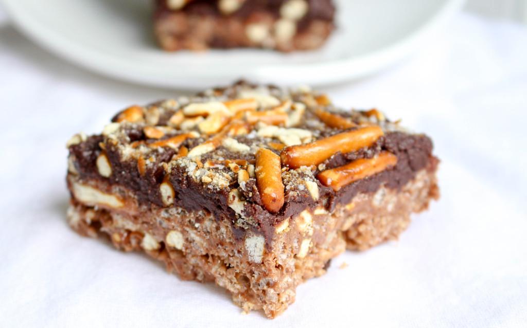 Nutella-Pretzel Cereal Treats