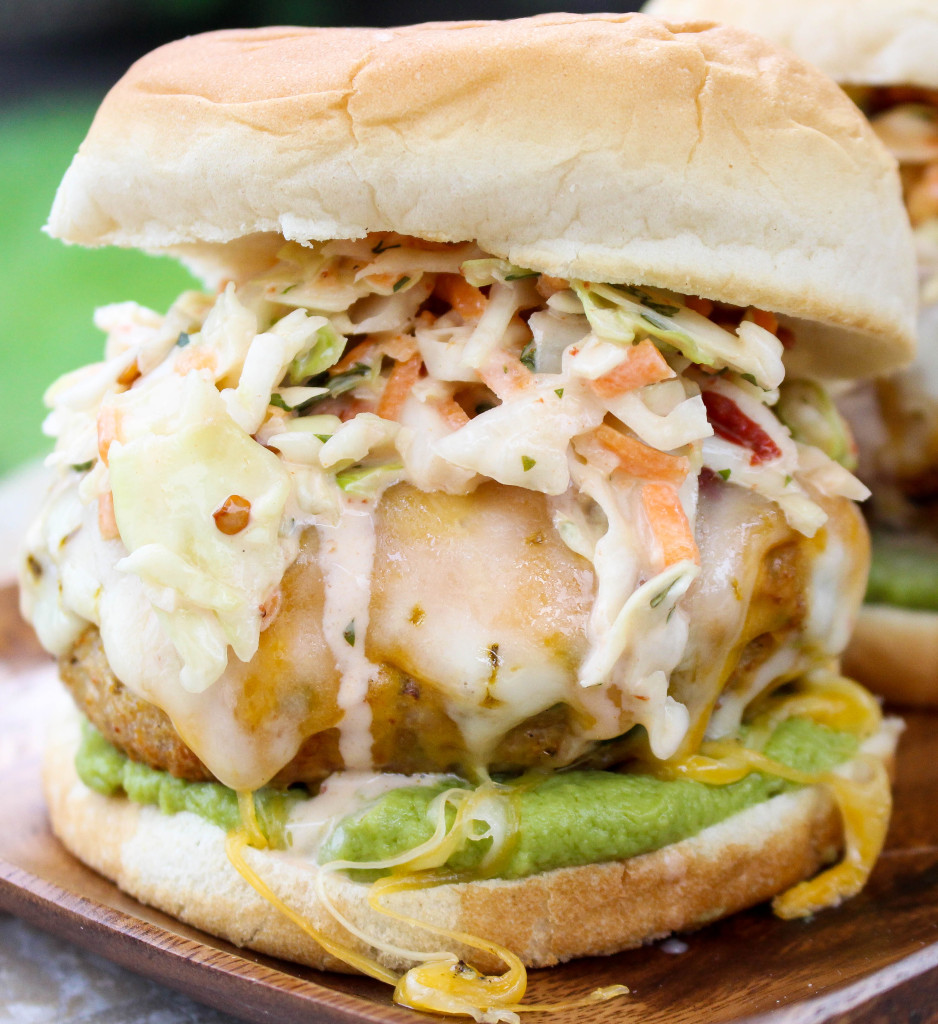 Mexican Turkey Burgers with Guacamole & Spicy Chipotle Slaw | Yes to ...