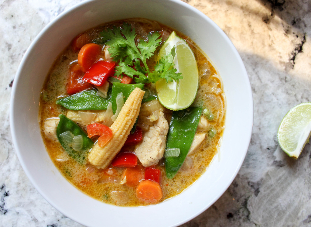 Yellow Thai Curry with Chicken & Veggies | Yes to Yolks