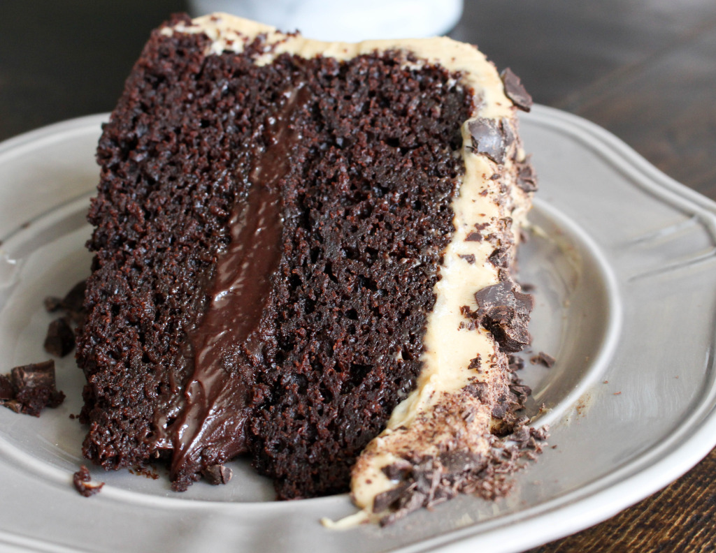 Mocha Cake with Fudge Filling & Espresso Frosting | Yes to Yolks