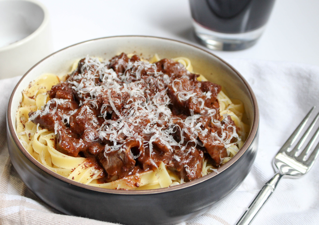 Chocolate & Port-Braised Beef Short Rib Bolognese | Yes to Yolks