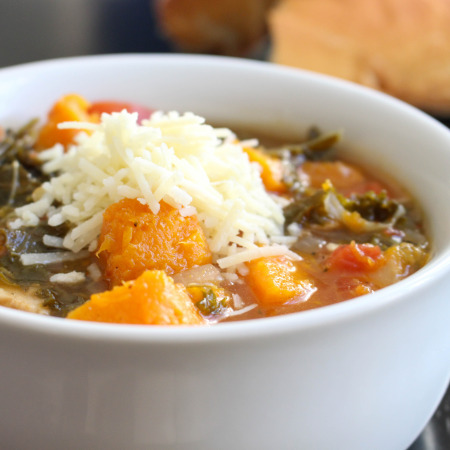 Kale & Roasted Squash Soup