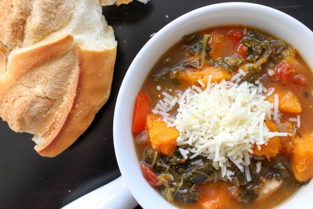 Kale & Roasted Squash Soup | Yes to Yolks