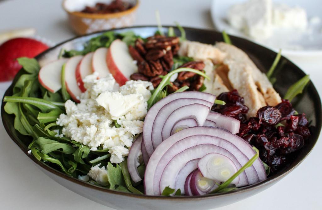 Apple-Chicken Salad with Feta & Apple Vinaigrette   Yes to Yolks