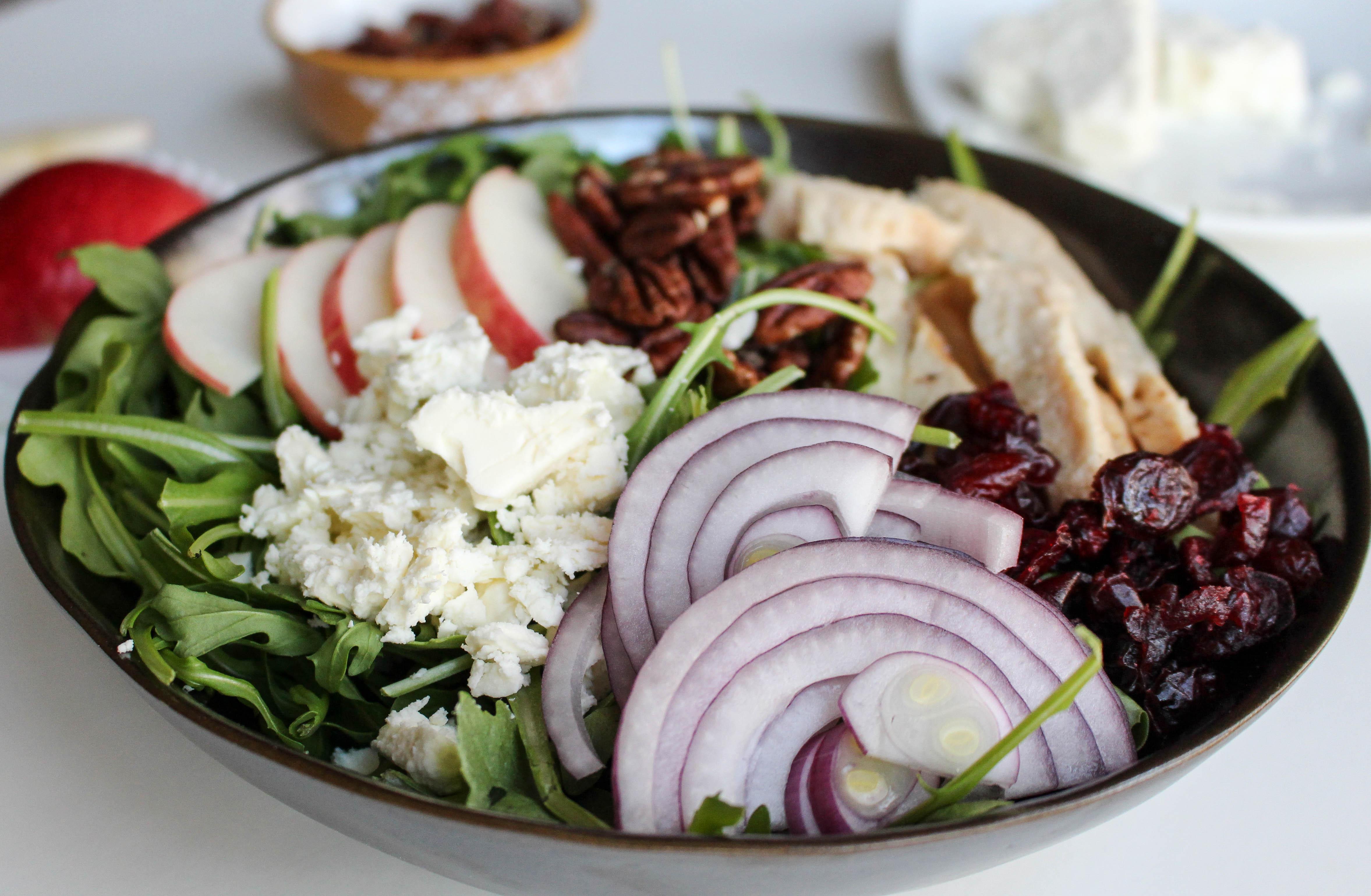 Apple-Chicken Salad with Feta & Apple Vinaigrette
