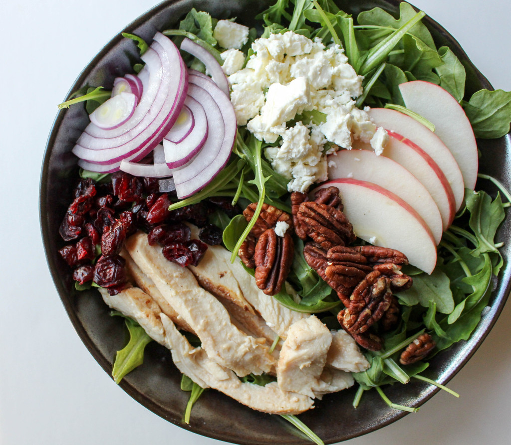 Apple-Chicken Salad with Feta & Apple Vinaigrette | Yes to Yolks