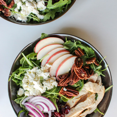 Apple-Chicken Salad with Feta & Apple Vinaigrette