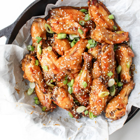 Spicy Blood Orange Chicken Wings