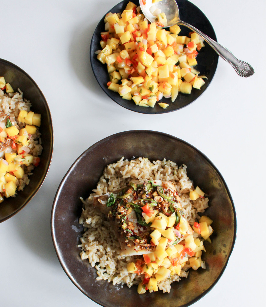 Asian Cod with Coconut Rice & Mango Salsa | Yes to Yolks