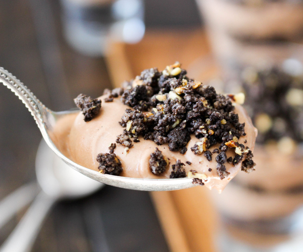 Nutella Mousse Parfaits with Oreo-Hazelnut Crumble | Yes to Yolks
