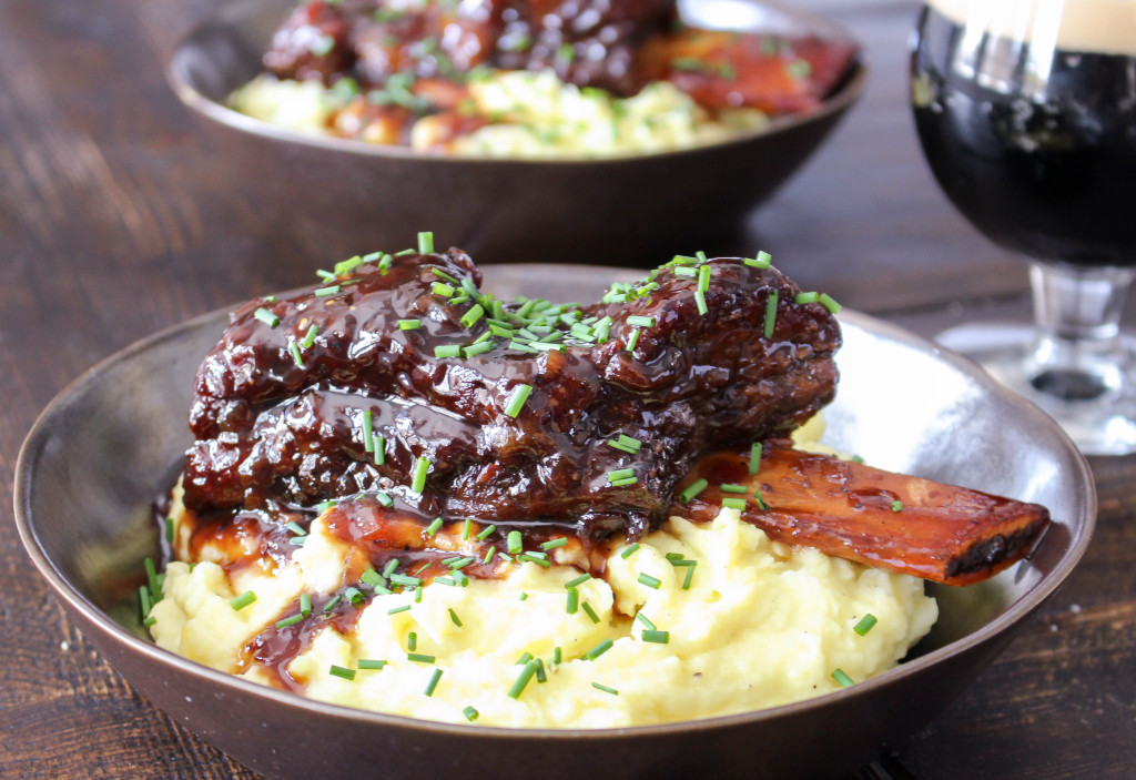 Honeyed Stout-Braised Short Ribs with Wasabi Mashed Potatoes | Yes to Yolks