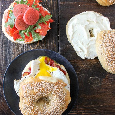 Homemade Bagels (and three ways to serve 'em!)