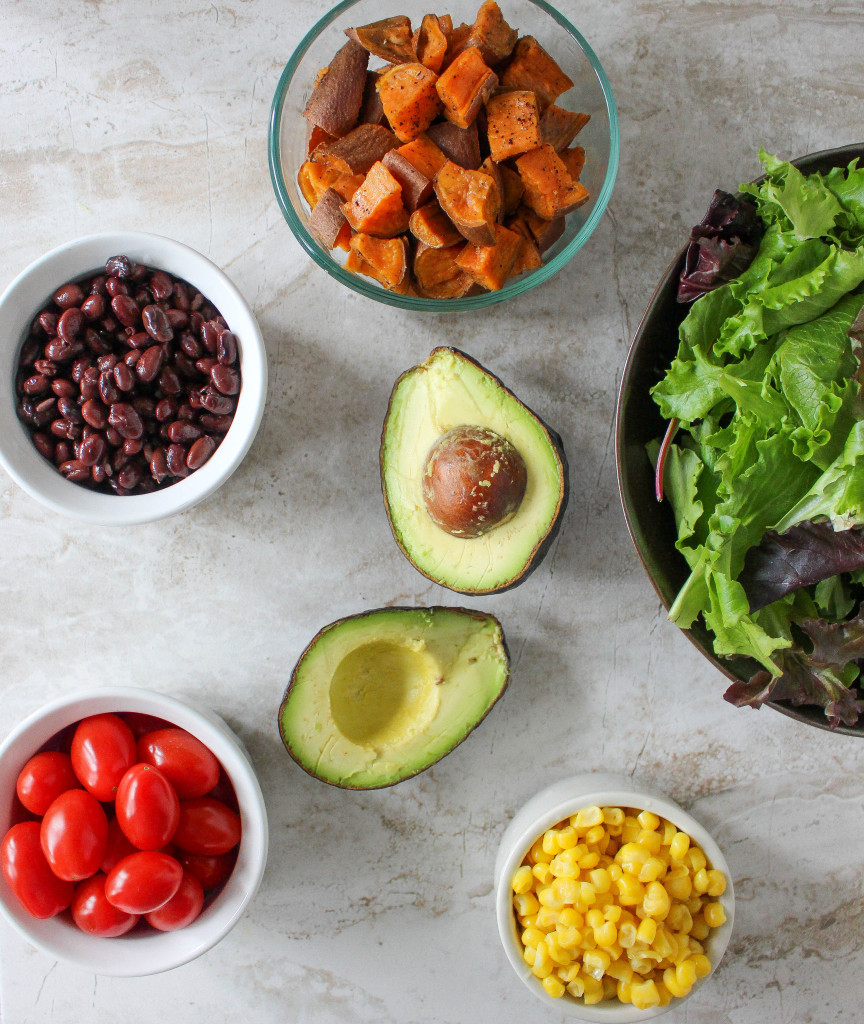 Southwestern Power Salad with Chili-Lime Vinaigrette   Yes to Yolks