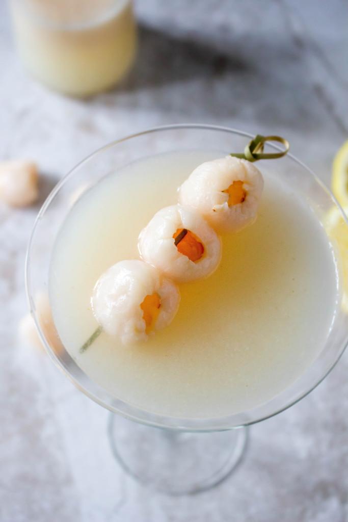 Lemon Lychee Martinis
