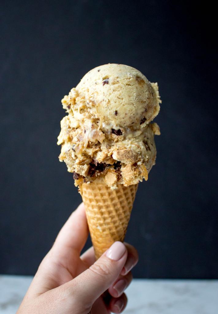 Peanut Butter Caramel S'mores Ice Cream