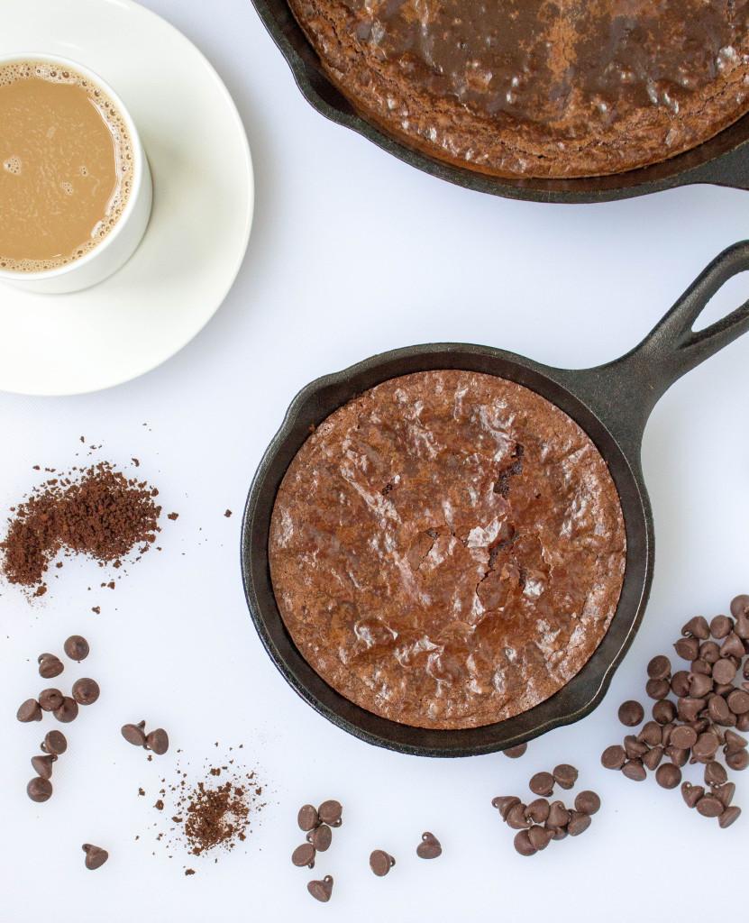 Mocha Fudge Skillet Brownies
