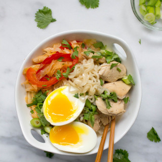 Spicy Thai Coconut Ramen with Chicken & Cabbage
