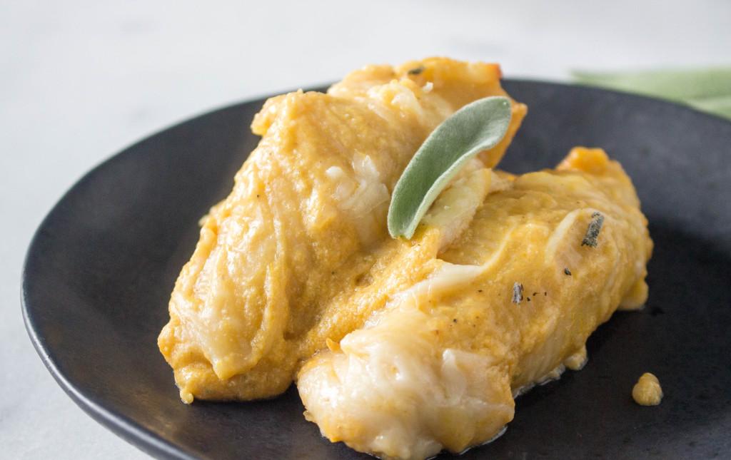 Cheesy Butternut Squash Stuffed Shells   yestoyolks.com