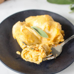 Cheesy Butternut Squash Stuffed Shells | yestoyolks.com