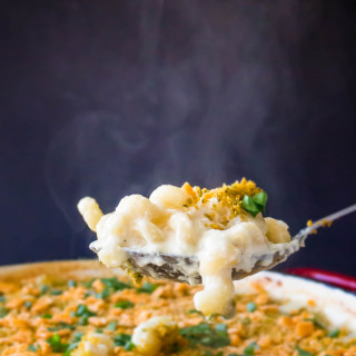 Herby Cheez-It Crusted Mac & Cheese