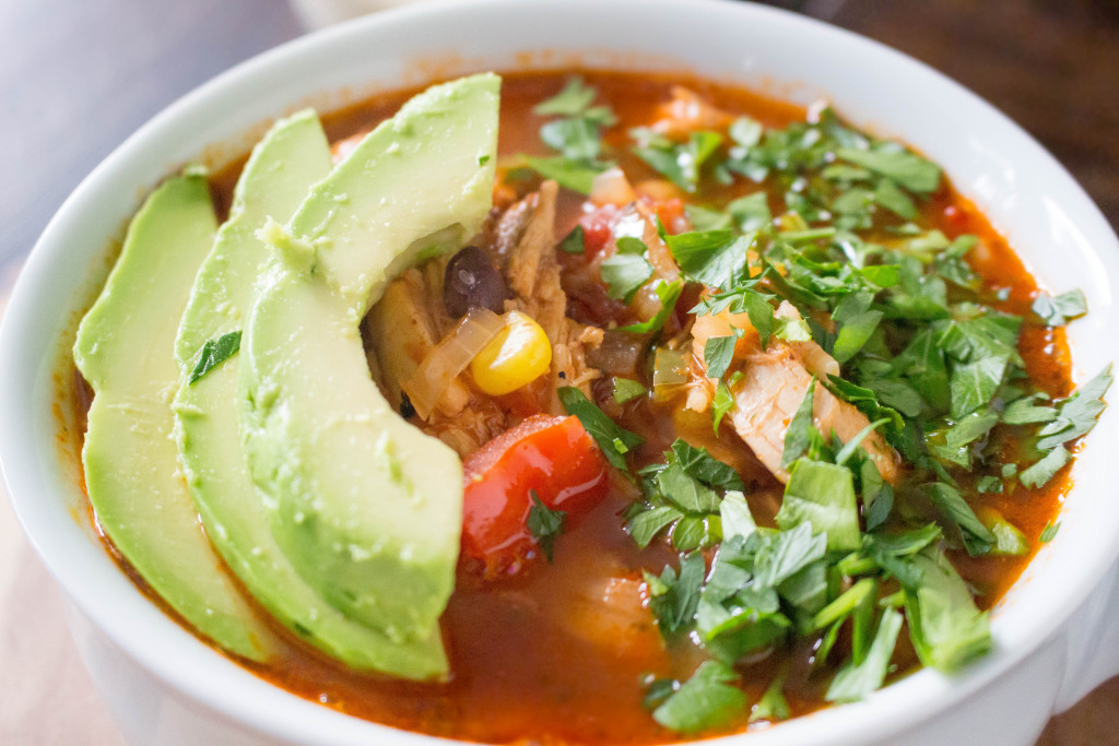 Healthy Mexican Chicken Soup with Chipotle-Lime Crema   yestoyolks.com