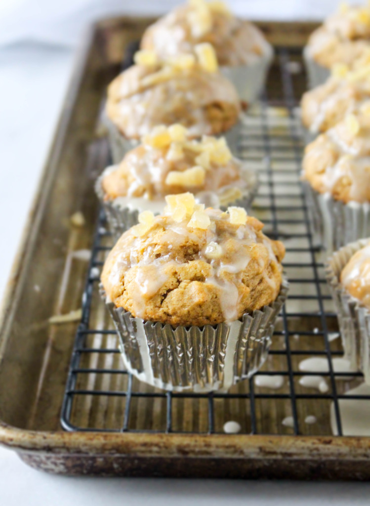 Butternut Oat Muffins with Apple Cider Glaze | yestoyolks.com