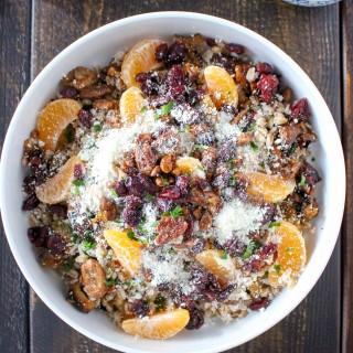 Farro Grain Bowls with Roasted Fruit & Feta Cheese