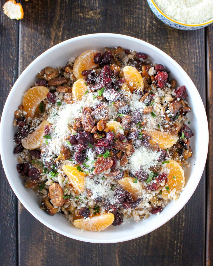 Farro Grain Bowls with Roasted Fruit & Feta Cheese | @yestoyolks.com