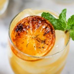 Boozy Clementine Lemonade with Brûléed Citrus & Mint | yestoyolks.com