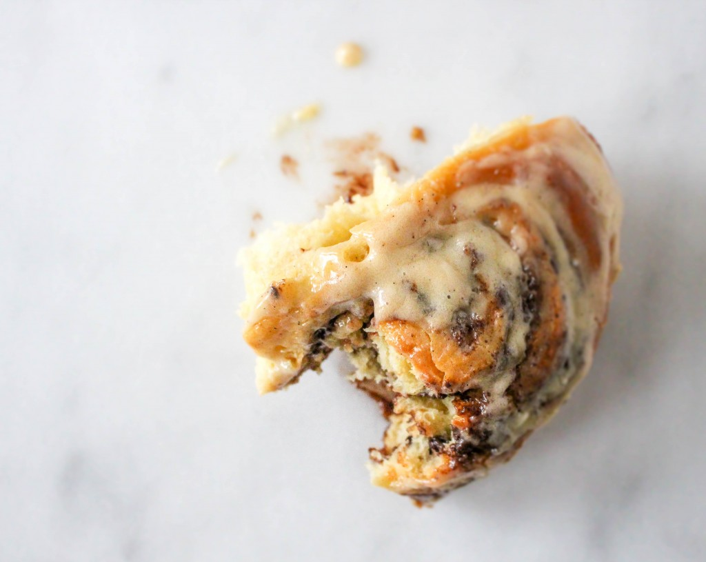Chocolate Peanut Butter Cinnamon Rolls | @yestoyolks.com