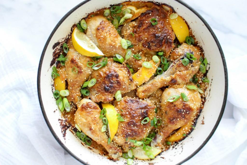 Spicy Sesame Roast Chicken   @yestoyolks.com
