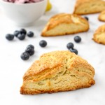 Lemon Cream Scones with Vanilla Berry Butter | yestoyolks.com